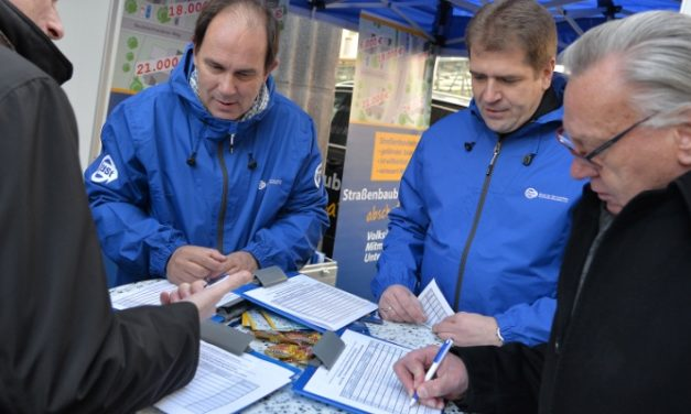 """Volksinitiative """"Straßenbaubeiträge abschaffen"""": Bund der Steuerzahler NRW sammelt gemeinsam mit der IGGMG am <br>21. Februar von 10:00 bis 12:00 Uhr in Giesenkirchen weitere Unterschriften"""