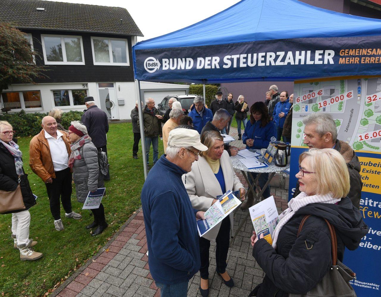 Bund der Steuerzahler NRW mit Volksinitiative für Abschaffung der Straßenbaubeiträge