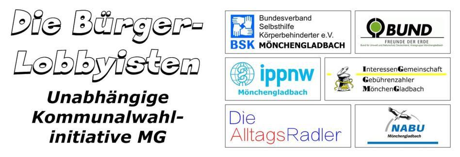 """IGGMG beteiligt sich an Mönchengladbacher Kommunalwahlinitiative """"Die BürgerLobbyisten"""" • KEINE neue Gruppierung für den Rat"""